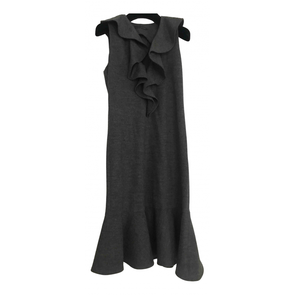 Ralph Lauren \N Grey Wool dress for Women 38 FR