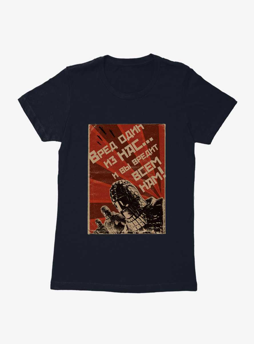 Doctor Who Red March Poster Womens T-Shirt