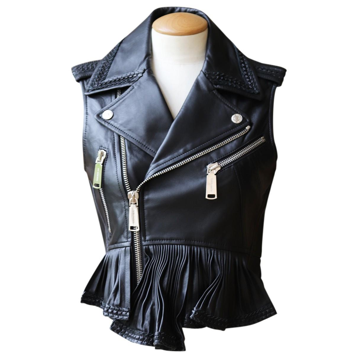Dsquared2 - Veste   pour femme en cuir - noir
