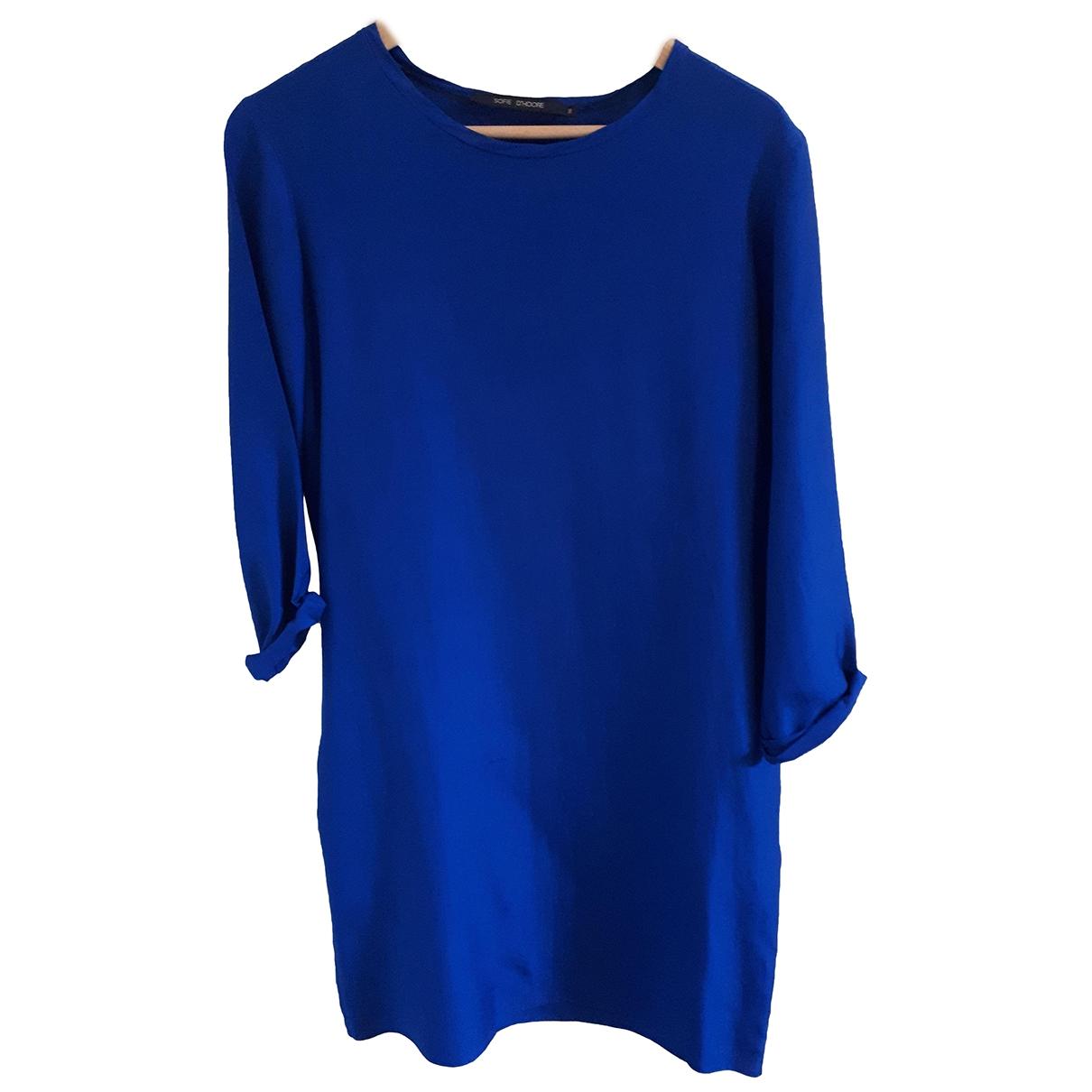 Sofie Dhoore - Robe   pour femme en soie - bleu