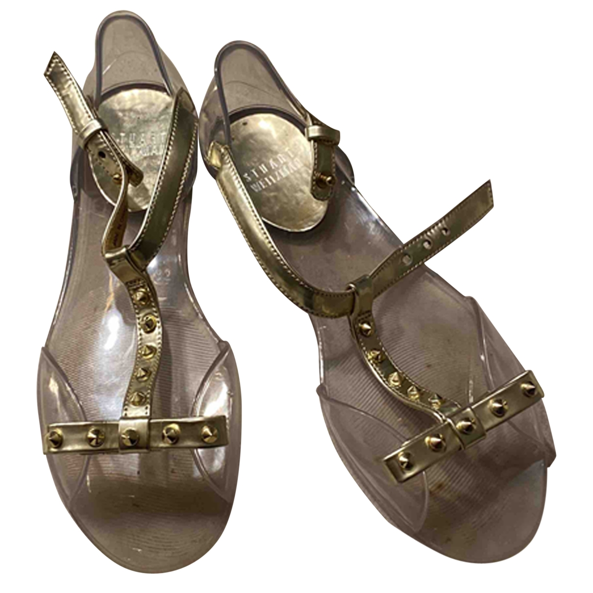 Stuart Weitzman \N Gold Sandals for Women 35 EU