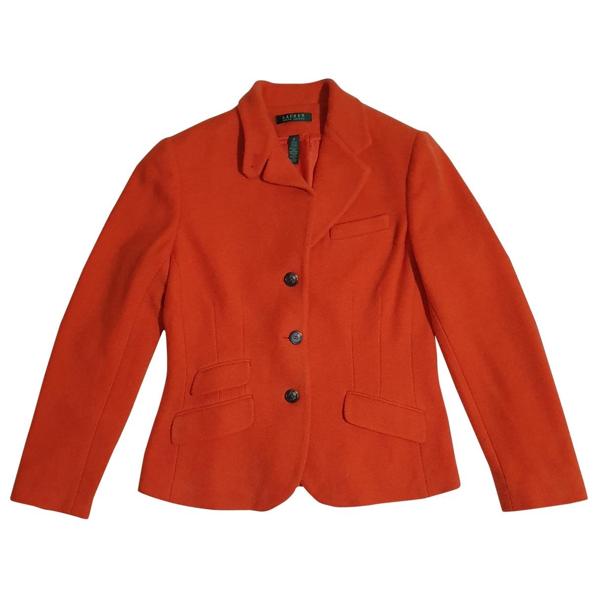 Lauren Ralph Lauren \N Orange Wool jacket for Women 10 US