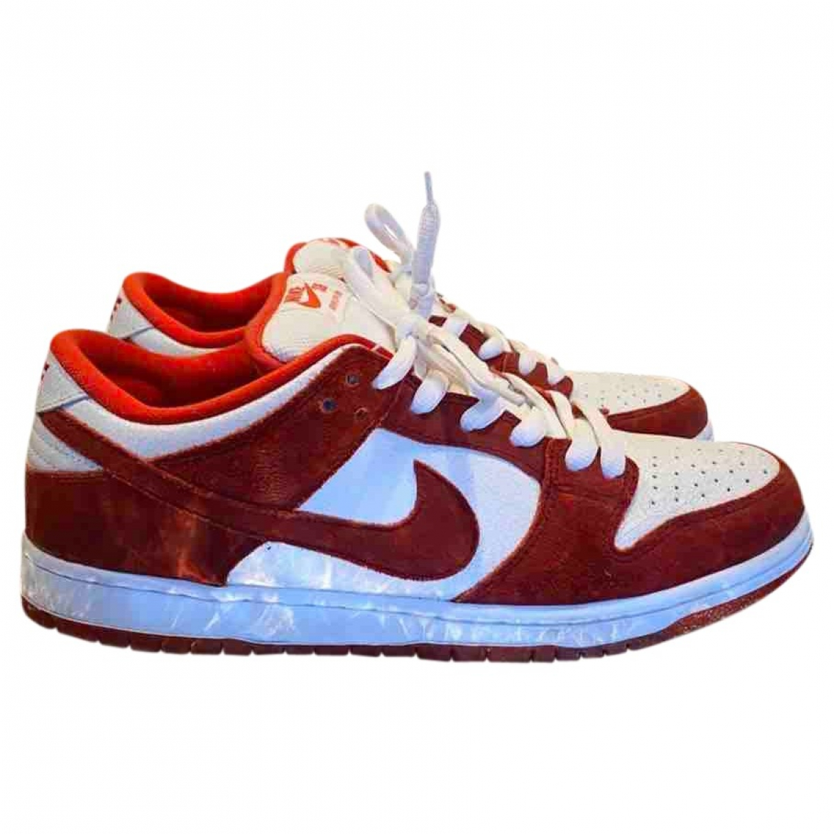 Nike SB Dunk  Red Suede Trainers for Men 45 EU