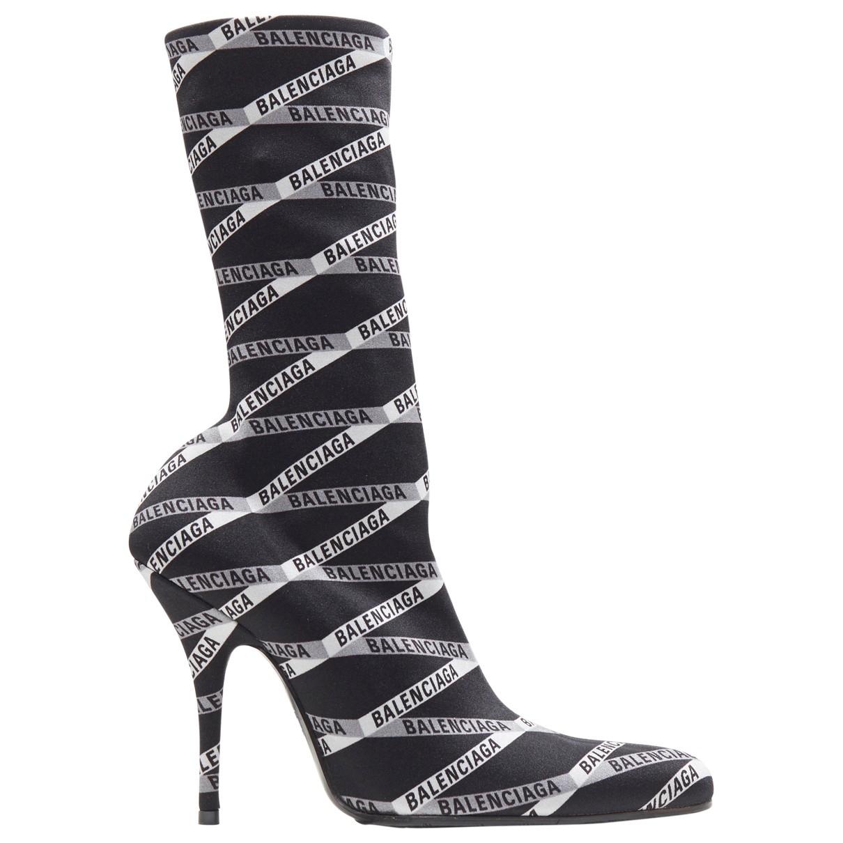Balenciaga \N Stiefel in  Schwarz Polyester