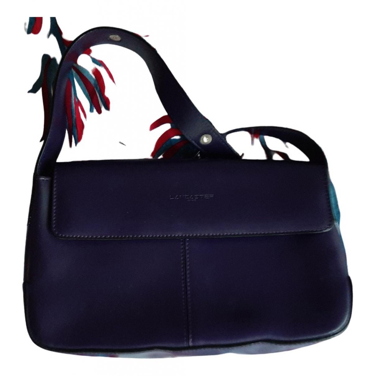 Lancaster N Purple Leather Clutch bag for Women N