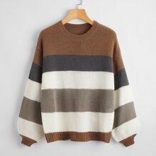 Jersey de color combinado de manga farol