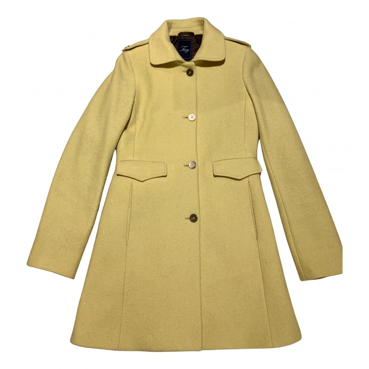 Fay - Manteau   pour femme en laine - jaune