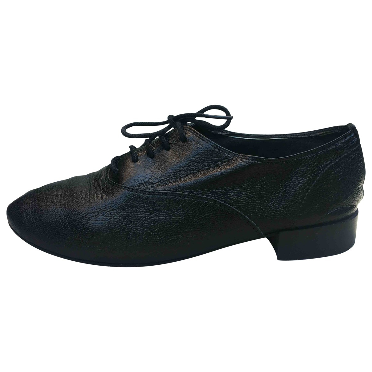 Repetto \N Black Leather Lace ups for Women 36 EU