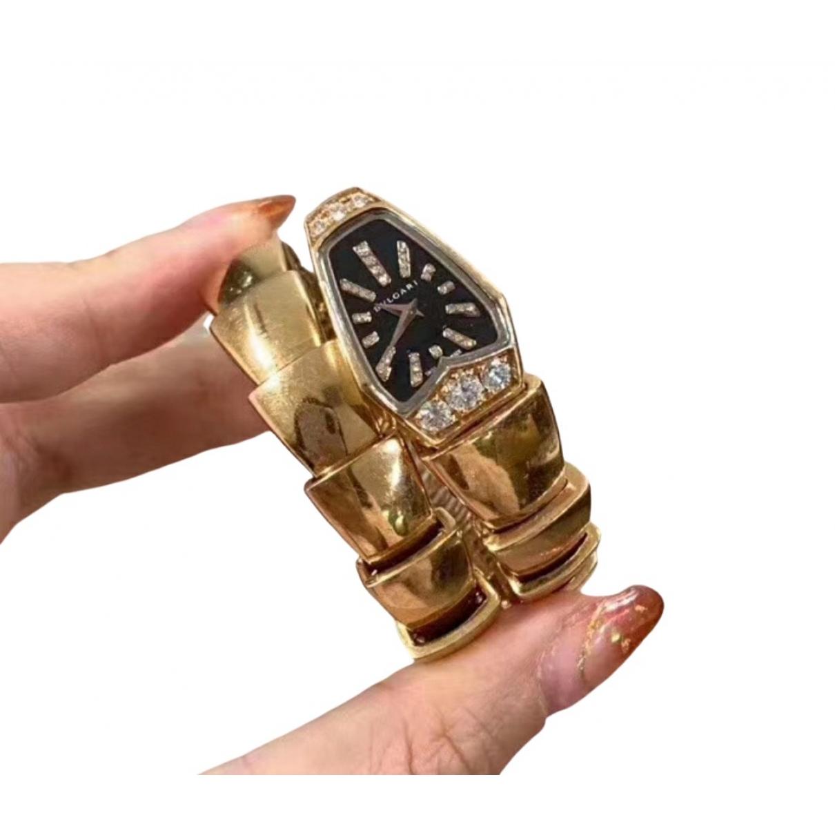 Bvlgari Serpenti Uhr in Gelbgold