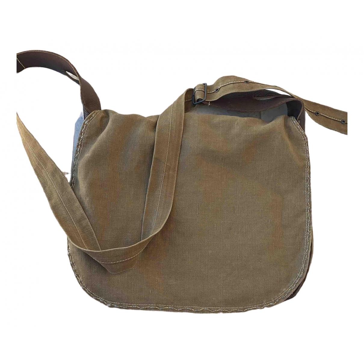 Maison Martin Margiela \N Handtasche in  Khaki Leinen