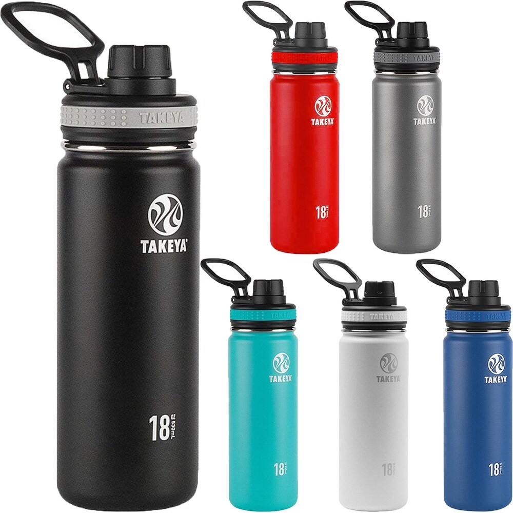 Takeya Originals 18 oz. Insulated Stainless Steel Water Bottle (White)
