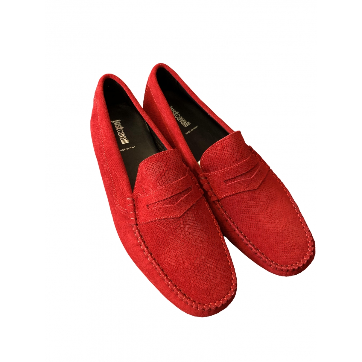 Just Cavalli \N Red Suede Flats for Men 45 EU