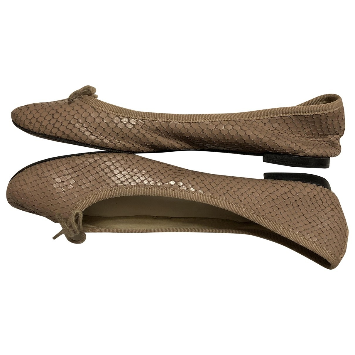 Repetto \N Beige Leather Ballet flats for Women 39.5 EU