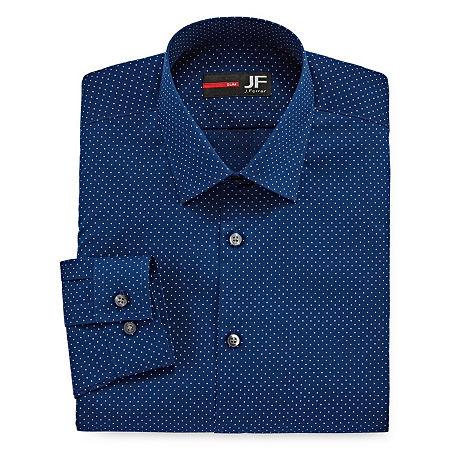 JF J.Ferrar Men's Stretch Easy-Care Long Sleeve Dress Shirt-Big & Tall, 20 38-39, Blue