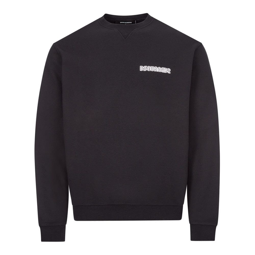 Dsquared2 Logo Sweatshirt Colour: NAVY, Size: LARGE