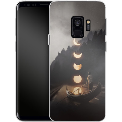 Samsung Galaxy S9 Silikon Handyhuelle - Moon Ride von Enkel Dika