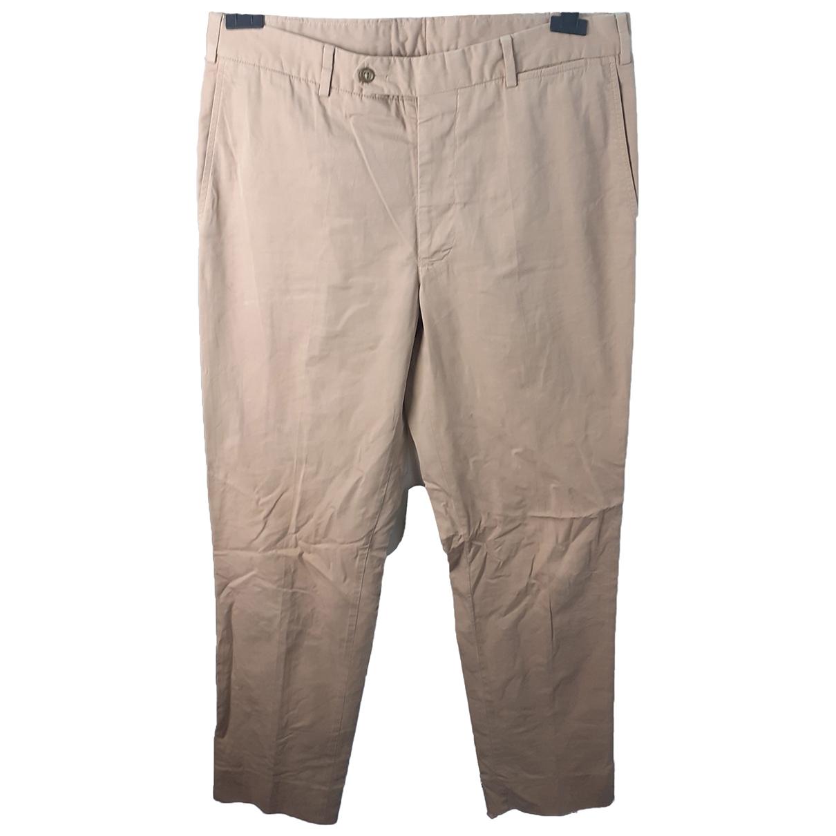 Pantalones en Algodon Beige Burberry