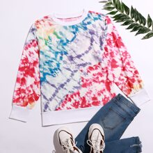 Plus  Tie Dye Print Sweatshirt