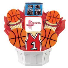 NBA Houston Rockets Cookie Bouquet