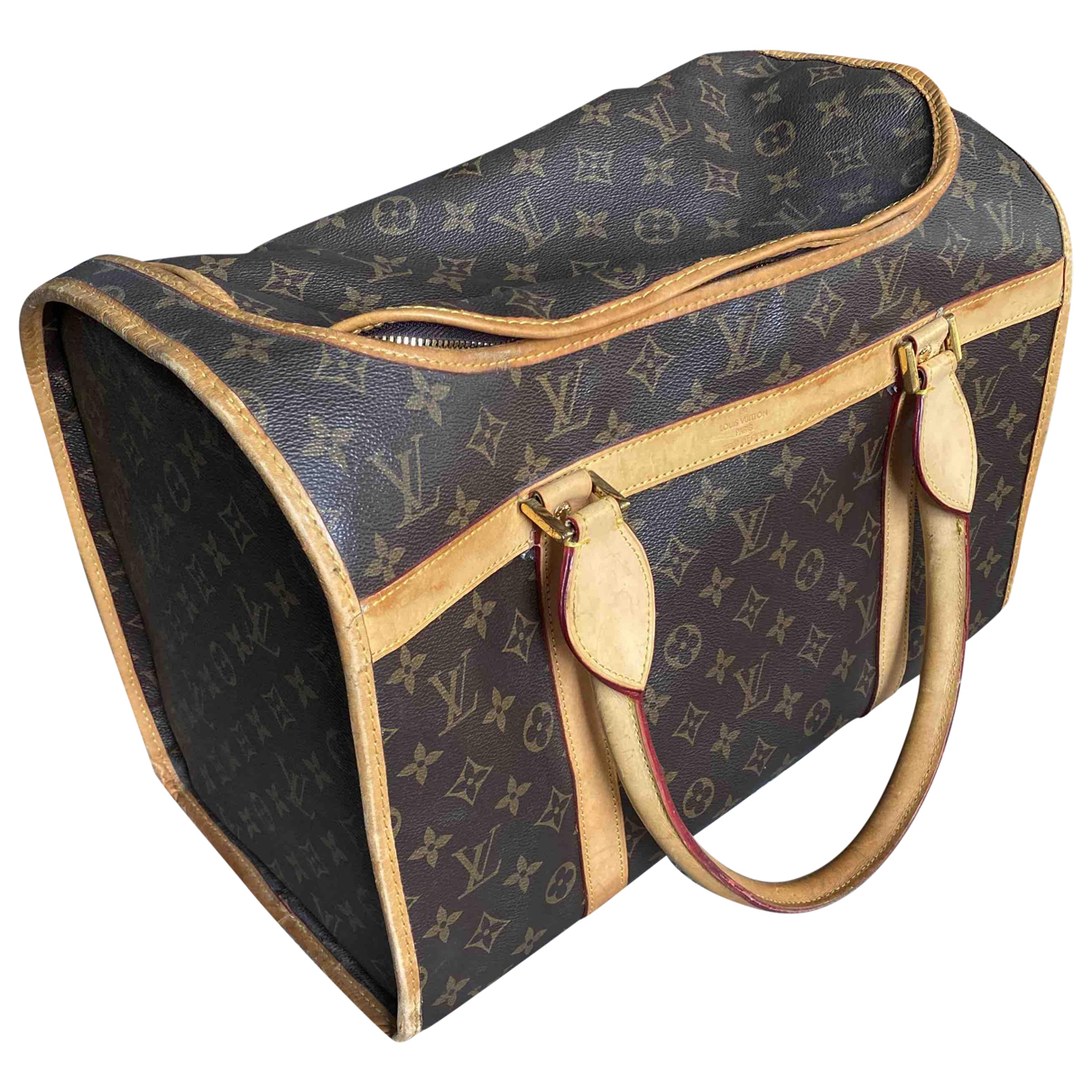 Louis Vuitton Sac chien Brown Cotton Accessories for Life & Living N