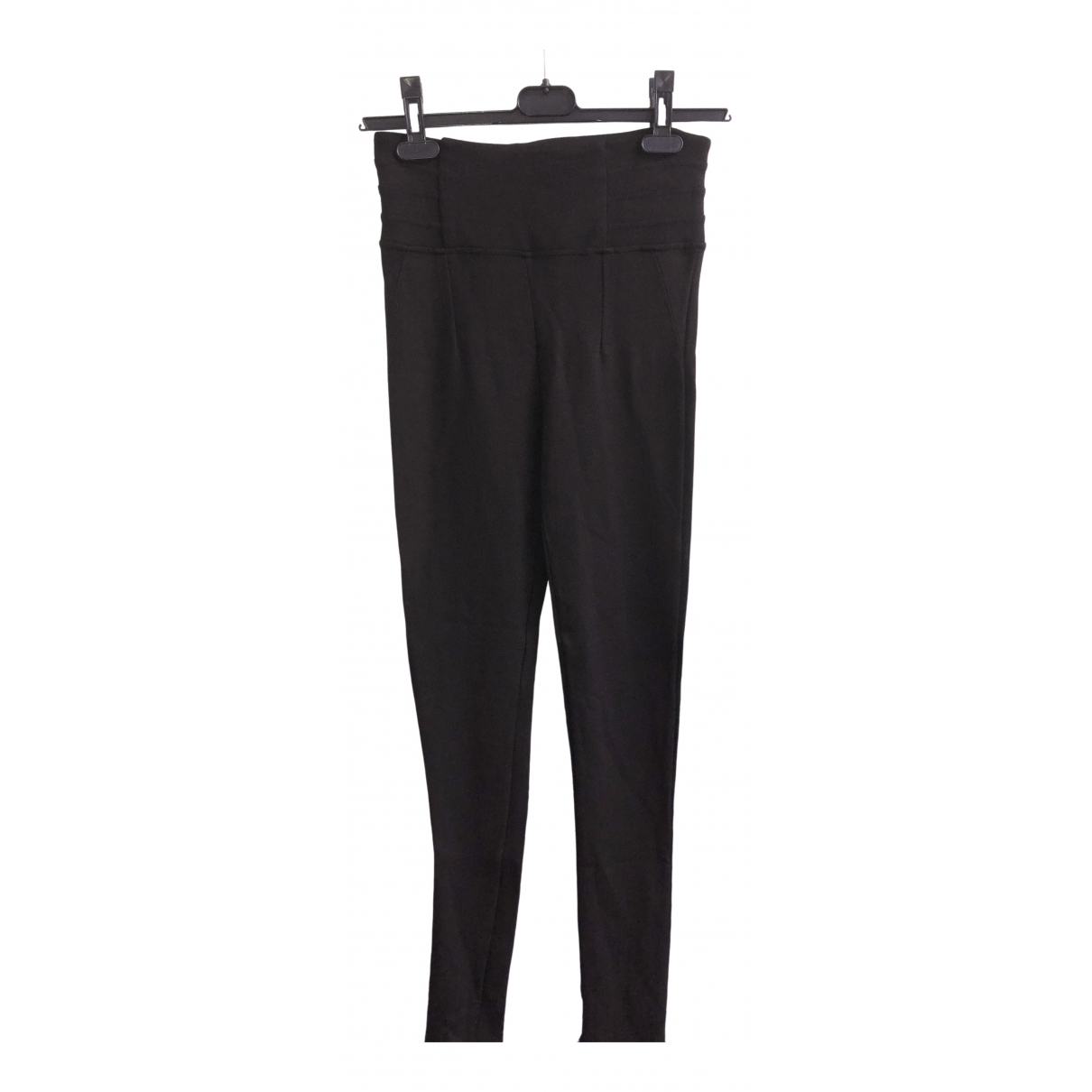 Zara N Black Cotton Trousers for Women L International