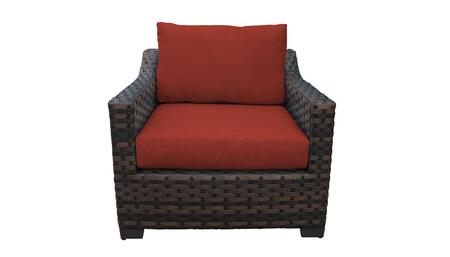 KI043b-CC-TERRACOTTA Kathy Ireland Homes and Gardens River Brook Club Chair - 1 Set of Truffle and 1 Set of Cinnamon