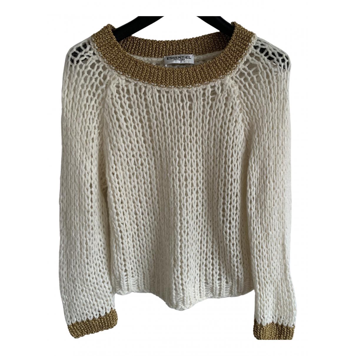 Essentiel Antwerp - Pull   pour femme en laine - blanc
