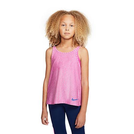 Nike Big Girls Sleeveless T-Shirt, X-large , Purple