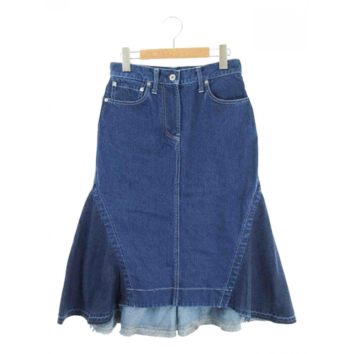 Sacai N Blue Cotton skirt for Women S International