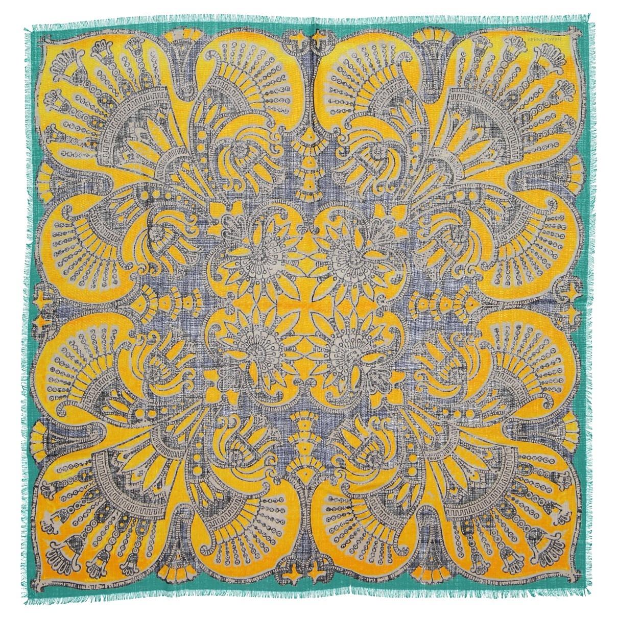 Hermès \N Yellow Cotton scarf for Women \N
