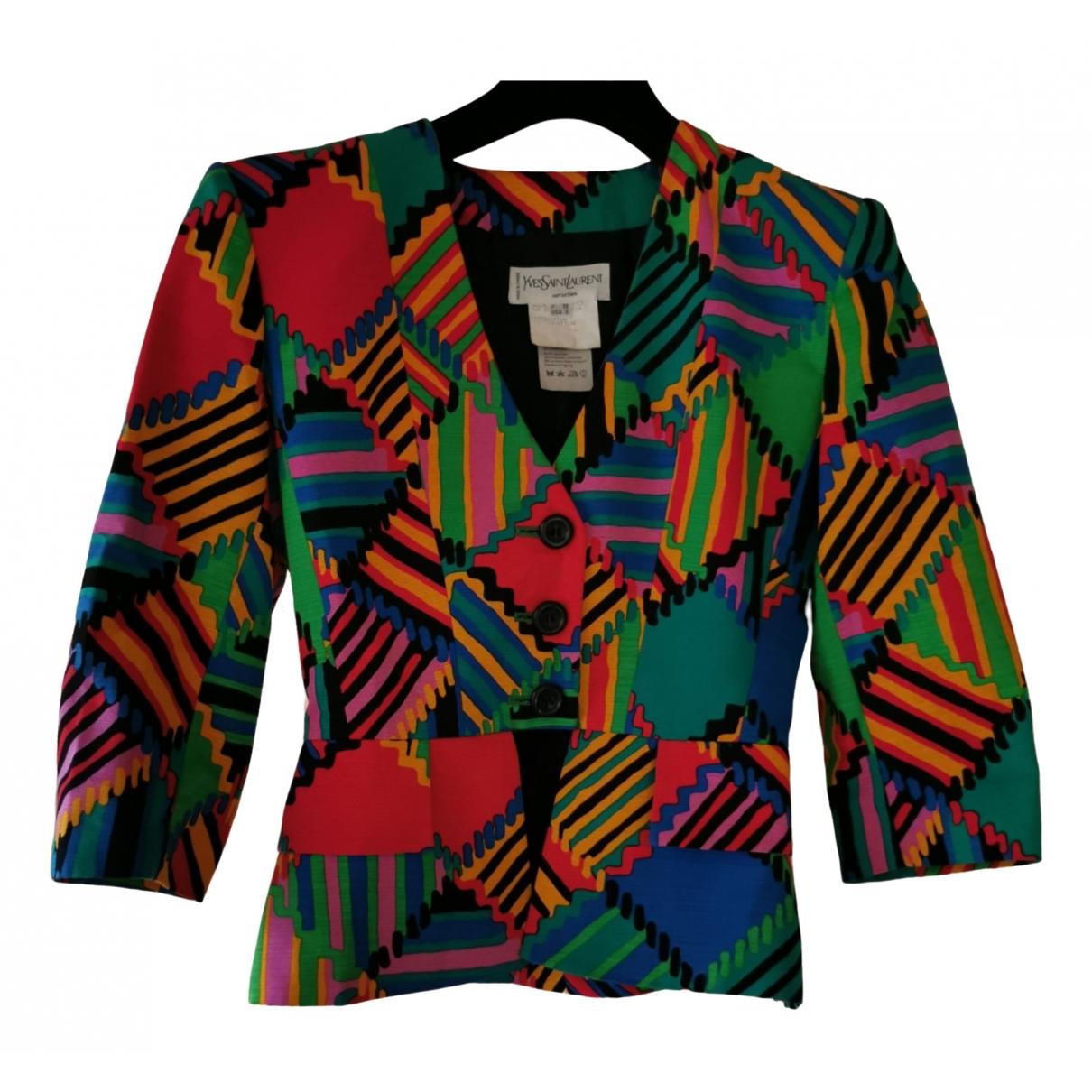 Chaqueta en Algodon Multicolor Yves Saint Laurent