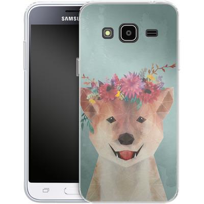 Samsung Galaxy J3 (2016) Silikon Handyhuelle - Crown von Little Clyde