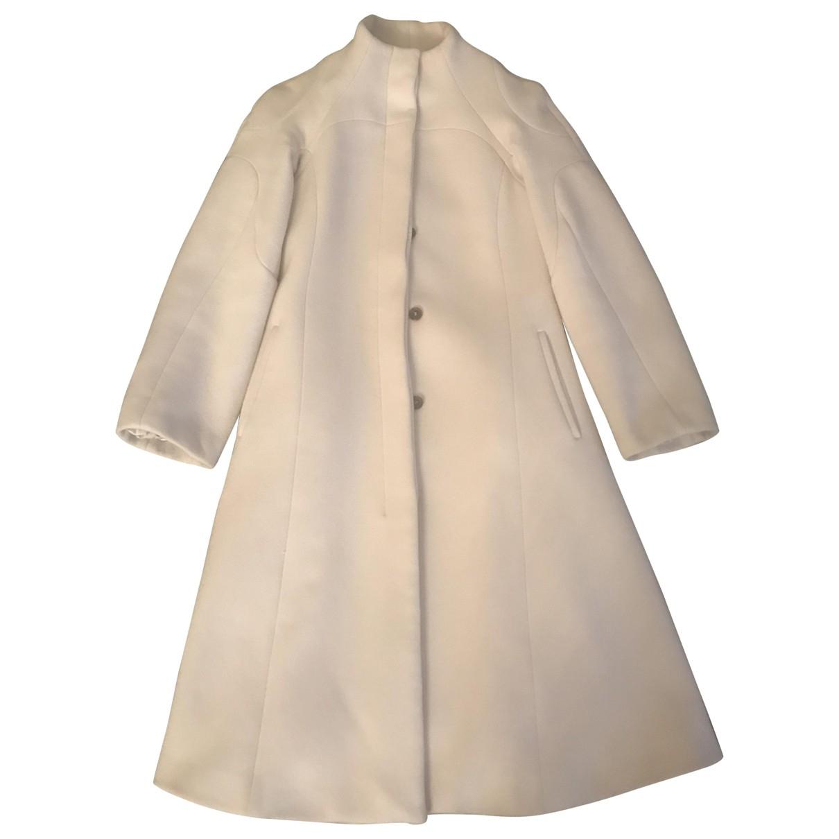 Celine \N Maentel in  Grau Wolle