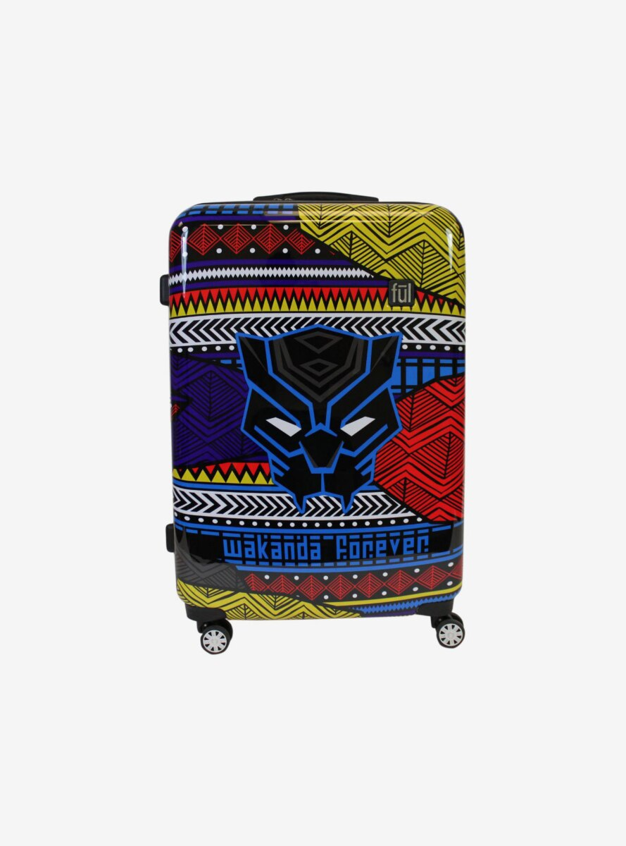 FUL Marvel Black Panther Tribal Art 25 Inch Hard Sided Rolling Luggage