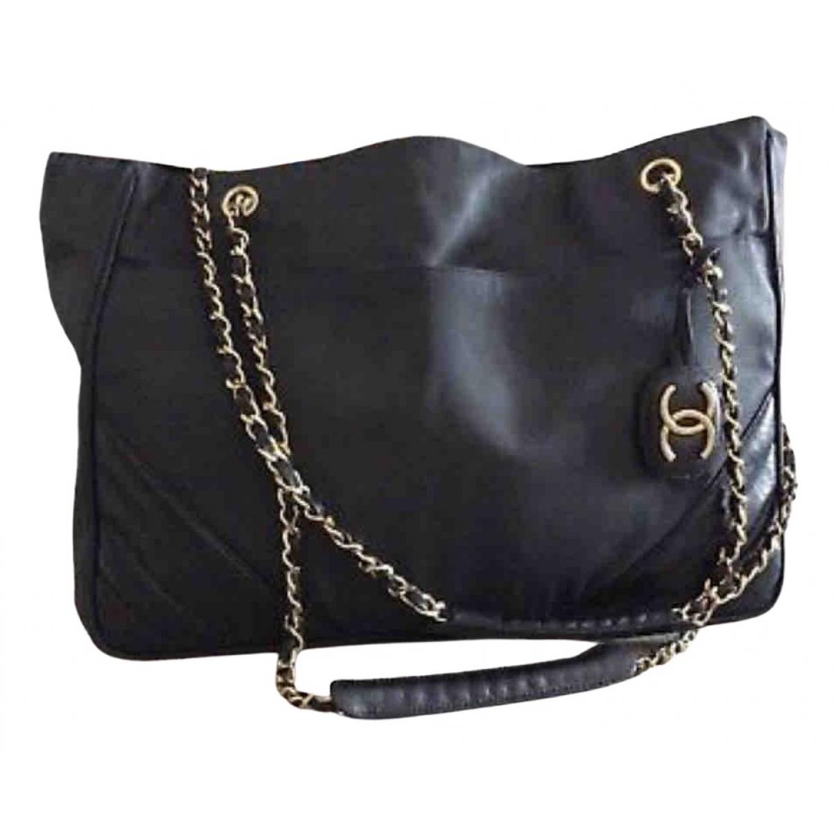 Chanel Grand shopping Blue Cloth handbag for Women \N