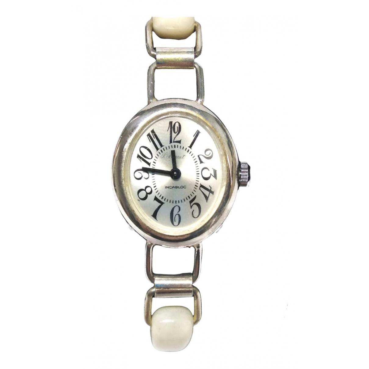 Non Signe / Unsigned \N Uhr in  Beige Silber