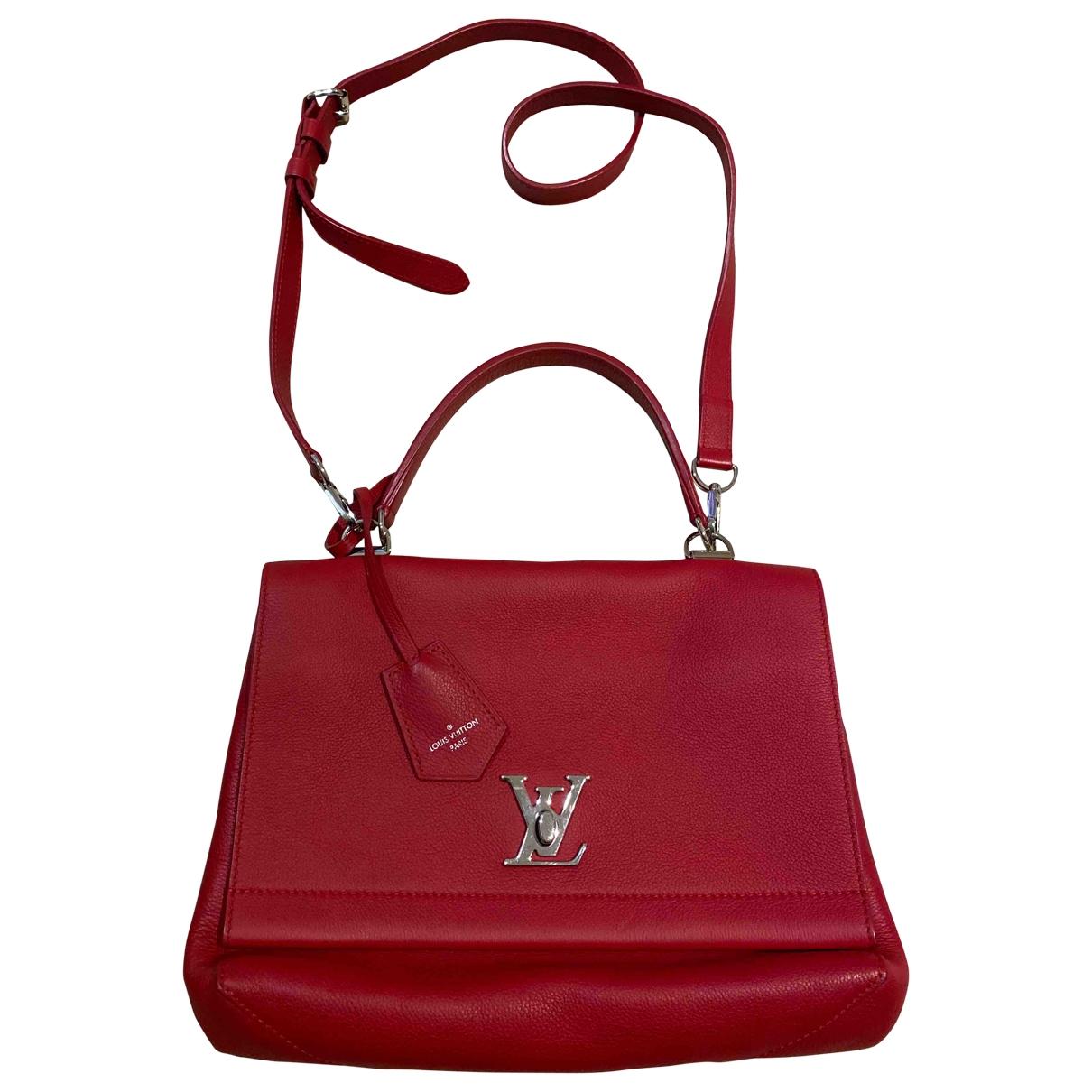 Louis Vuitton - Sac a main Lockme pour femme en cuir - rouge
