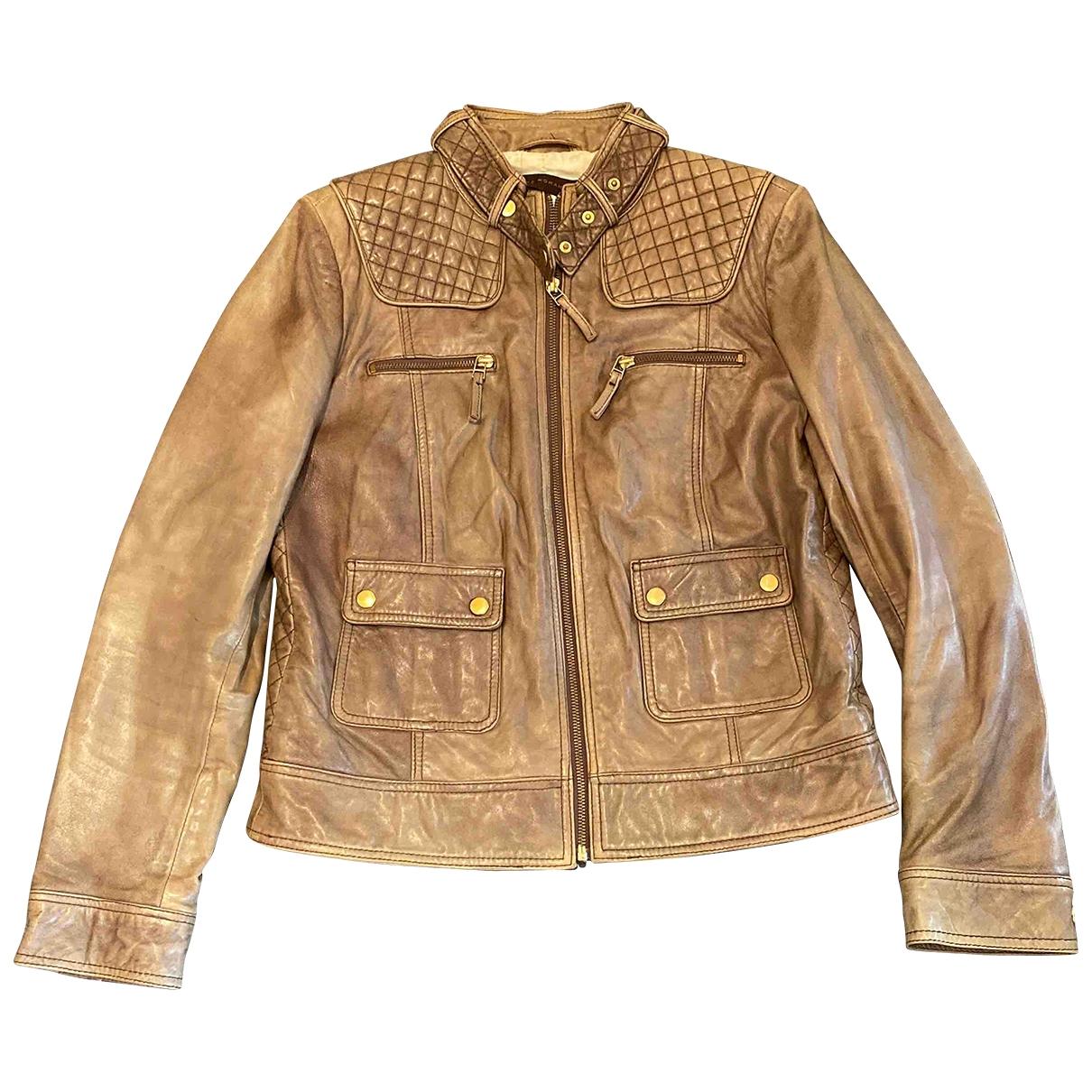Zara \N Brown Leather jacket for Women L International