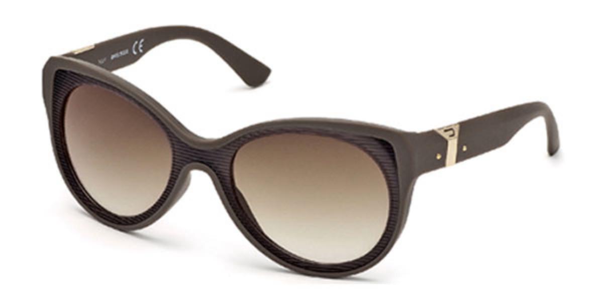 Diesel DL0032 56F Men's Sunglasses Brown Size 55