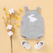 Baby Boy Rabbit Knit Bodysuit