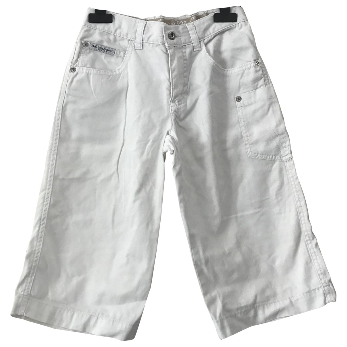 D&g \N White Cotton Shorts for Kids 6 years - up to 114cm FR