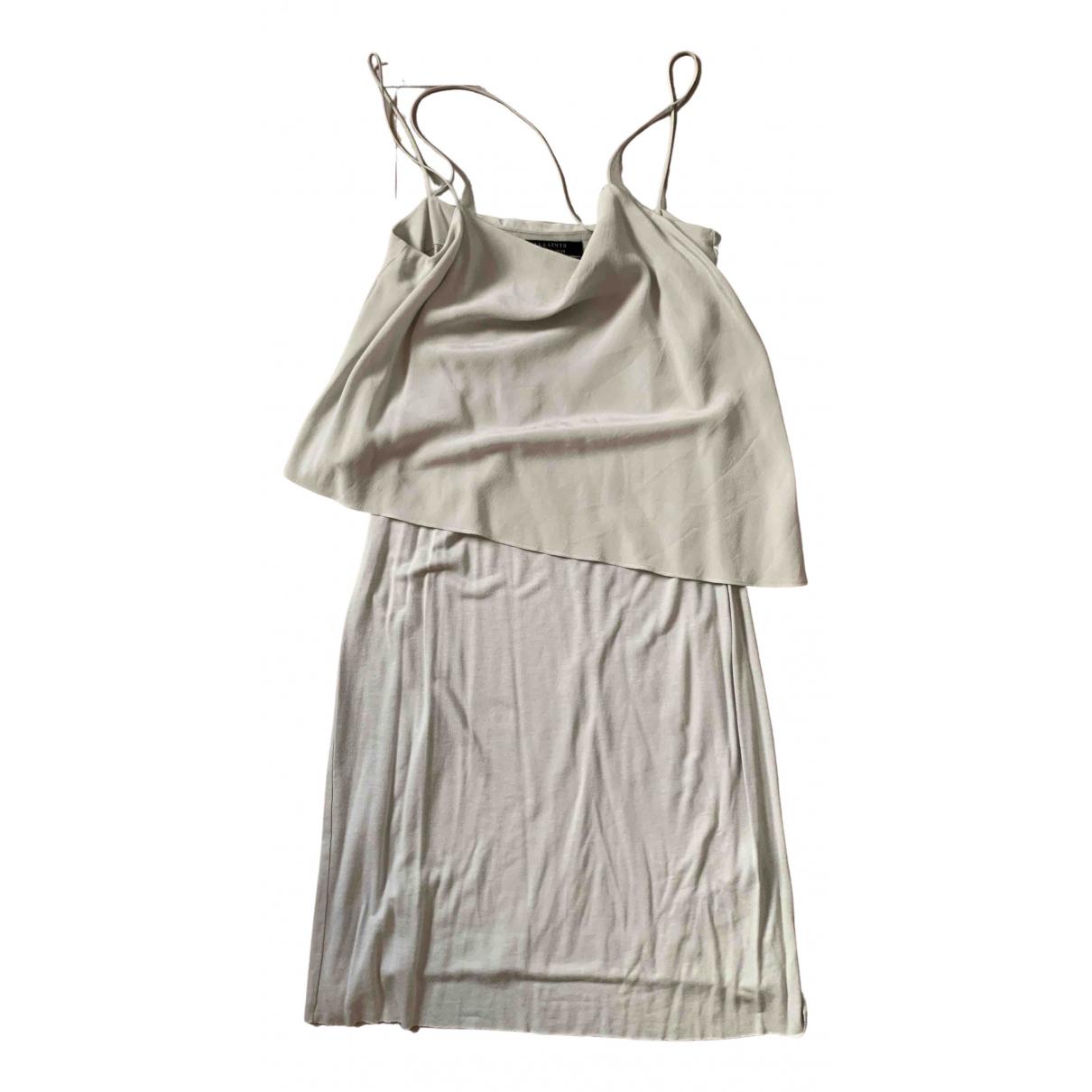 All Saints - Robe   pour femme en soie - gris