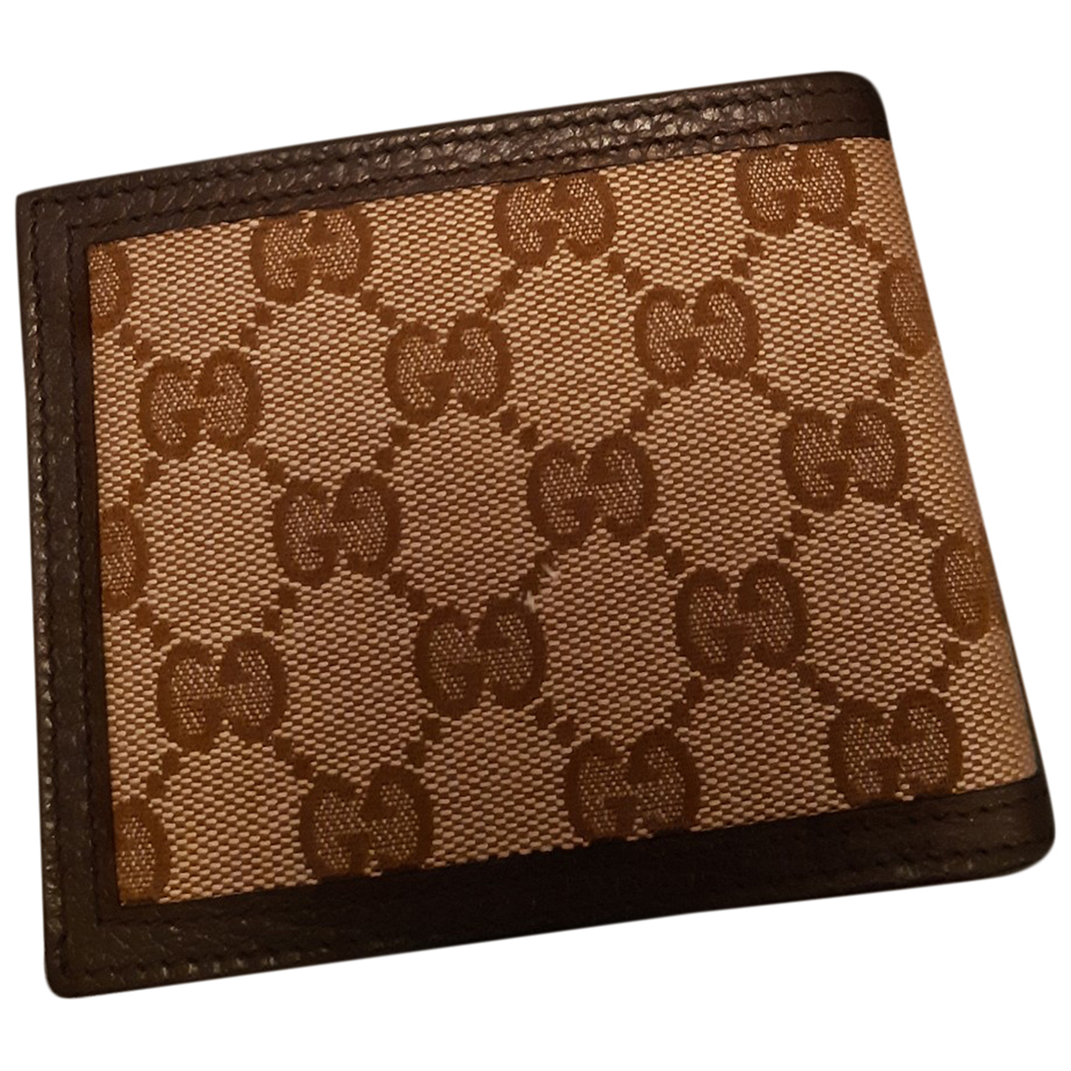 Gucci - Petite maroquinerie   pour homme en toile - marron