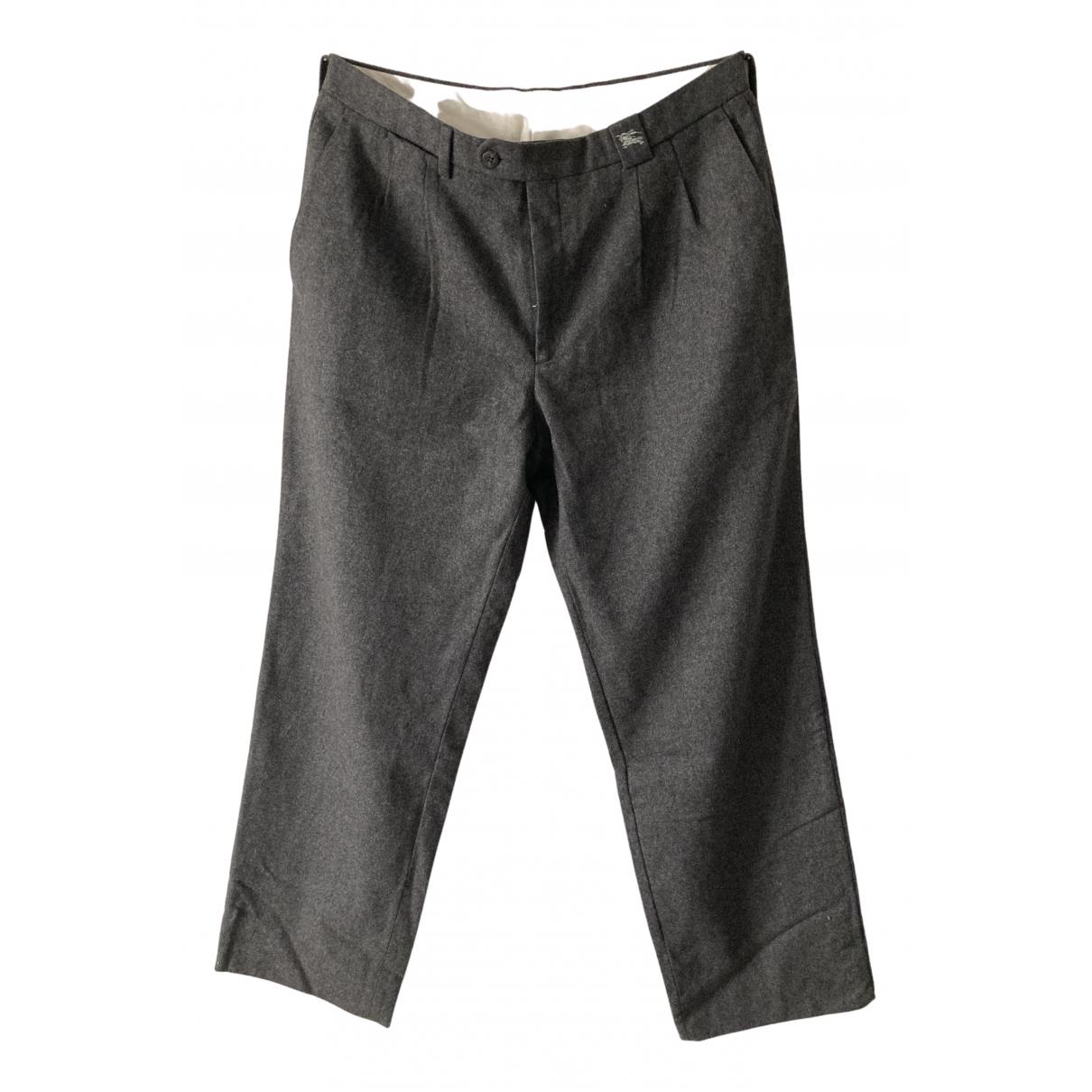 Burberry N Grey Wool Trousers for Men 44 FR