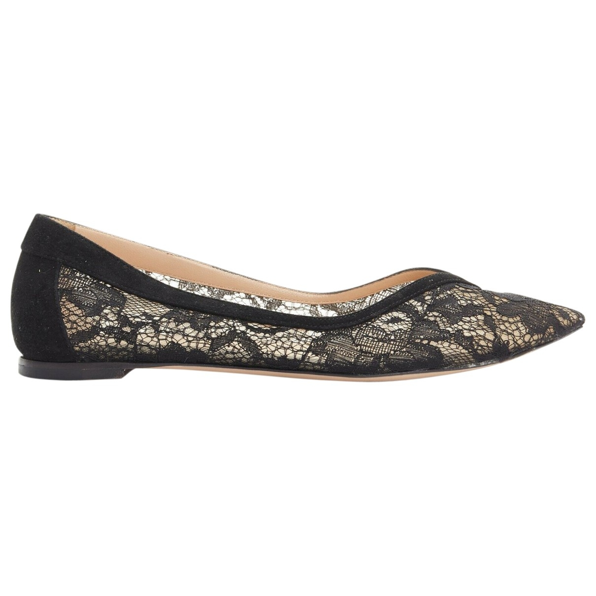 Gianvito Rossi \N Black Suede Ballet flats for Women 36.5 EU
