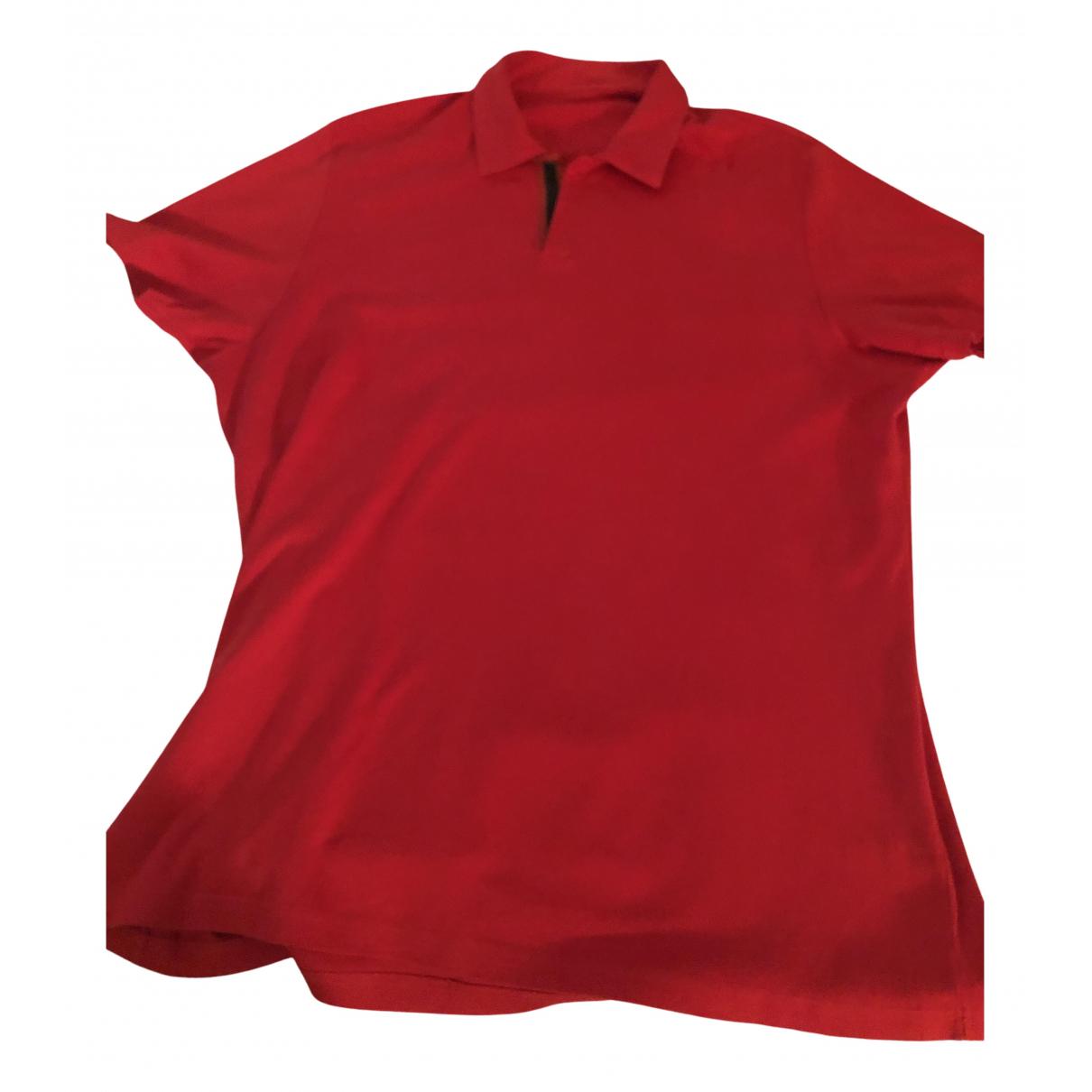 Prada N Red Cotton Polo shirts for Men XL International