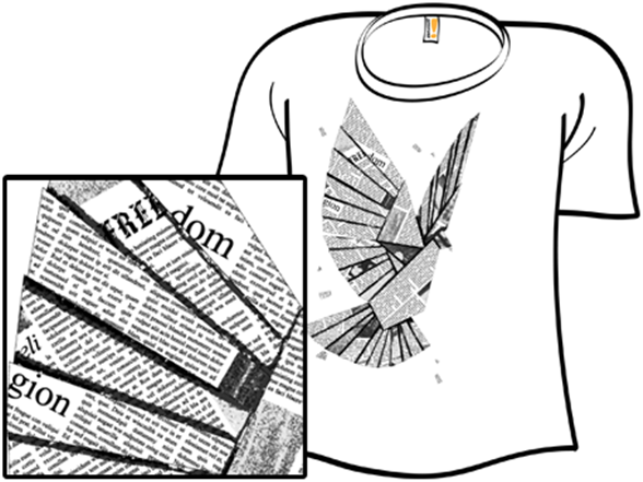 Fly, Paper T Shirt