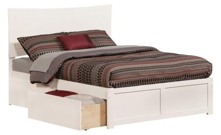 Metro Collection AR9032112 Full Size Platform Bed with 2 Urban Bed Drawers  Flat Panel Foot Board  Traditional Style  Hardwood Slat Kit and