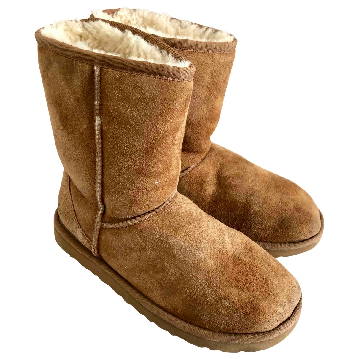 Ugg \N Camel Suede Ankle boots for Women 7 US