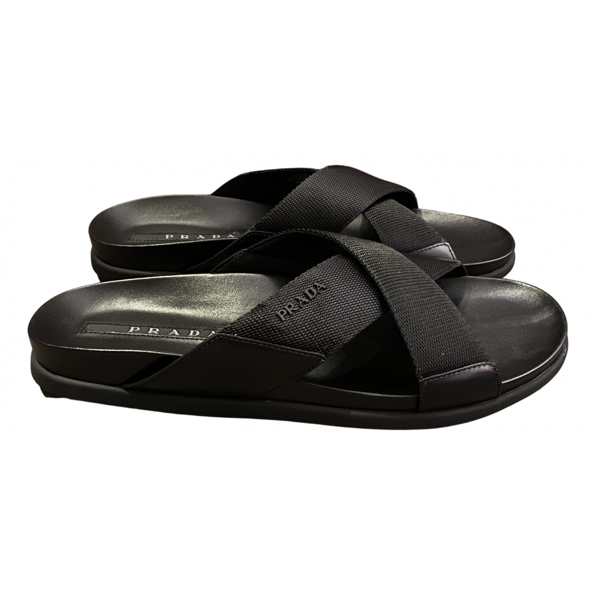 Prada \N Black Cloth Sandals for Men 42 EU